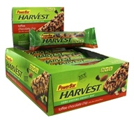 PowerBar - Harvest Long Lasting Energy Bar Toffee Chocolate Chip - 15 Bars