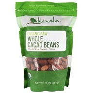 Kevala - Haricots entiers crus organiques de cacao - 16 once.