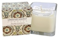 Creative Energy Candles - 2-in-1 Candle & Anti-Aging Lotion for Your Skin Island Coconut - 9 oz.
