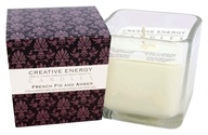 Creative Energy Candles - 2-in-1 Candle & Anti-Aging Lotion for Your Skin French Fig & Amber - 9 oz.