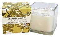 Creative Energy Candles - 2-in-1 Candle & Anti-Aging Lotion for Your Skin Citrus Basil & Wild Mint - 9 oz.