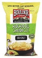 Boulder Canyon - Gluten-Free Avocado Oil Canyon Cut Kettle Cooked Potato Chips Sea Salt - 5.25 oz.