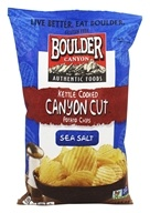 Boulder Canyon - Gluten-Free Canyon Cut Kettle Cooked Potato Chips Sea Salt - 6.5 oz.