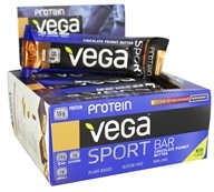 Vega - Vega Sport Plant-Based Protein Bars Box Chocolate Peanut Butter - 12 Bars