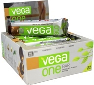 Vega - Vega One All-In-One Meal Bars Box Chocolate Peanut Butter - 12 Bars