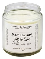 October Fields - Herbal Therapy Essential Oil Soy Candle Ginger Lime - 4 oz.