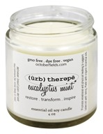 October Fields - Herbal Therapy Essential Oil Soy Candle Eucalyptus Mint - 4 oz.