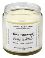 October Fields - Herbal Therapy Essential Oil Soy Candle Orange Patchouli - 4 oz.