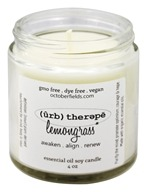 October Fields - Herbal Therapy Essential Oil Soy Candle Lemongrass - 4 oz.