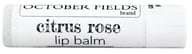 October Fields - Lip Balm Citrus Rose - 0.15 oz.