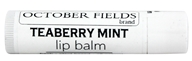 October Fields - Lip Balm Teaberry Mint - 0.15 oz.