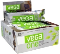 Vega - Vega One All-In-One Meal Bars Box Chocolate Coconut Cashew - 12 Bars