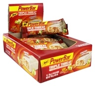 PowerBar - Triple Threat Long Lasting Energy Bar Caramel Apple - 15 Bars