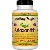 Healthy Origins - Vegan Astaxanthin 4 mg. - 150 Vegetarian Softgels
