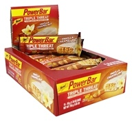 PowerBar - Triple Threat Long Lasting Energy Bar Vanilla Caramel Nut - 15 Bars