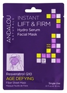 Andalou Naturals - Age Defying Instant Lift & Firm Hydro Serum Facial Mask Resveratrol Q10 - 0.6 oz.