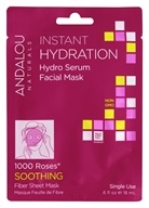 Andalou Naturals - Soothing Instant Hydration Hydro Serum Facial Mask 1000 Roses - 0.6 oz.