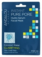 Andalou Naturals - Clarifying Instant Pure Pore Hydro Serum Facial Mask Coconut Water - 0.6 oz.