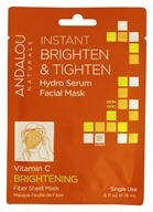 Andalou Naturals - Brightening Instant Brighten & Tighten Hydro Serum Facial Mask Vitamin C - 0.6 oz.