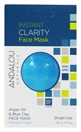 Andalou Naturals - Instant Clarity Clay Face Mask Argan Oil & Blue Clay - 0.28 oz.