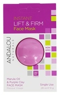 Andalou Naturals - Instant Lift & Firm Clay Face Mask Marula Oil & Purple Clay - 0.28 oz.