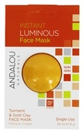 Andalou Naturals - Instant Luminous Clay Face Mask Turmeric & Gold Clay - 0.28 oz.