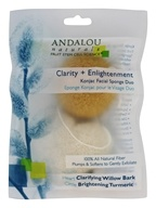 Andalou Naturals - Clarity + Enlightenment Konjac Facial Sponge Duo - 2 Pack