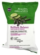 Avalon Organics - Brilliant Balance with Lavender & Prebiotics Purifying Towlettes - 30 Towelette(s)