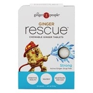 Ginger People - Ginger Rescue Chewable Ginger Tablets Strong - 24 Chewable Tablets