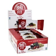 Bhu Fit - Vegan Protein Bar Chocolate + Tart Cherry + Pistachio - 12 Bars