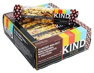 Kind Bar - Plus Protein Nutrition Bars Box Almond Walnut Macadamia with Peanuts - 12 Bars