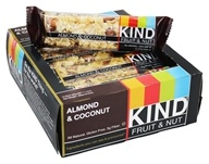 Kind Bar - Fruit & Nut Bars Box Almond & Coconut - 12 Bars