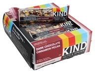 Kind Bar - Nuts & Spices Bars Box Dark Chocolate Cinnamon Pecan - 12 Bars