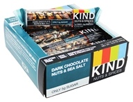 Kind Bar - Nuts & Spices Bars Box Dark Chocolate Nuts & Sea Salt - 12 Bars