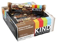 Kind Bar - Nuts & Spices Bars Box Madagascar Vanilla Almond - 12 Bars