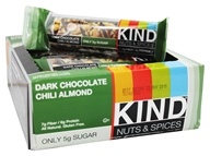 Kind Bar - Nuts & Spices Bars Box Dark Chocolate Chili Almond - 12 Bars