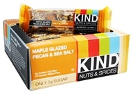 Kind Bar - Nuts & Spices Bars Box Maple Glazed Pecan & Sea Salt - 12 Bars