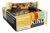 Kind Bar - Nuts & Spices Bars Box Caramel Almond & Sea Salt - 12 Bars