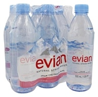 Evian - Natural Spring Water 16.9 oz. Bottles - 6 Pack