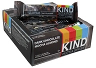 Kind Bar - Nuts & Spices Bars Box Dark Chocolate Mocha Almond - 12 Bars
