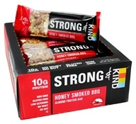Kind Bar - Strong & Kind Almond Protein Bars Box Honey Smoked BBQ - 12 Bars