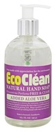 Eco Clean - Natural Hand Soap with Added Aloe Vera Free and Clear - 10.1 oz.