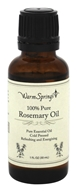 Warm Springs - 100% Pure Rosemary Oil - 1 oz.