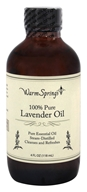 Warm Springs - 100% Pure Lavender Oil - 4 oz.