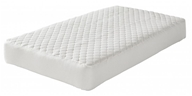 Greenbuds - Organic Cotton Quilted Crib Mattress Pad with Wool Fill 28 in. x 52 in.