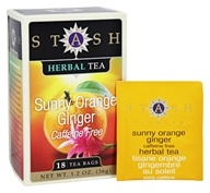 Stash Tea - Premium Caffeine Free Sunny Orange Ginger Tea - 18 Tea Bags