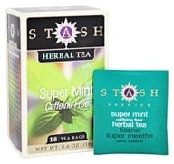 Stash Tea - Premium Caffeine Free Super Mint Tea - 18 Tea Bags
