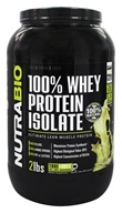 NutraBio - 100% Whey Protein Isolate Unflavored - 2 lbs.