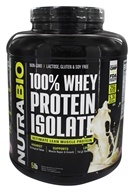 NutraBio - 100% Whey Protein Isolate Powder Alpine Vanilla - 5 lbs.