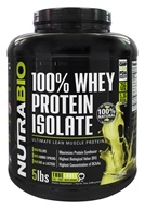 NutraBio - 100% Whey Protein Isolate Unflavored - 5 lbs.